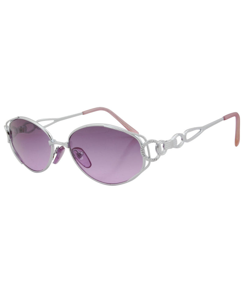 gomez silver purple sunglasses