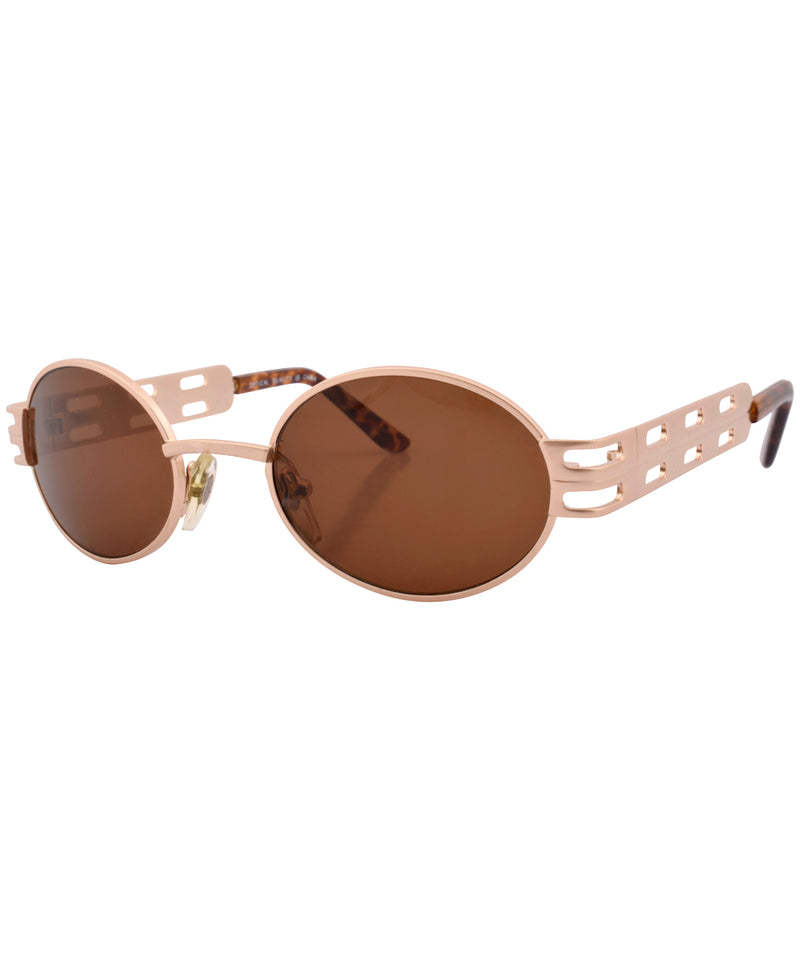 goods gold brown sunglasses