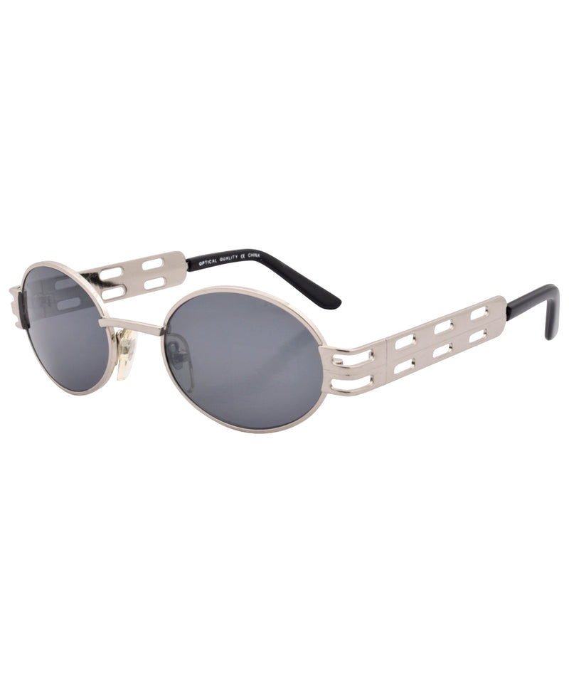 goods shiny silver sunglasses