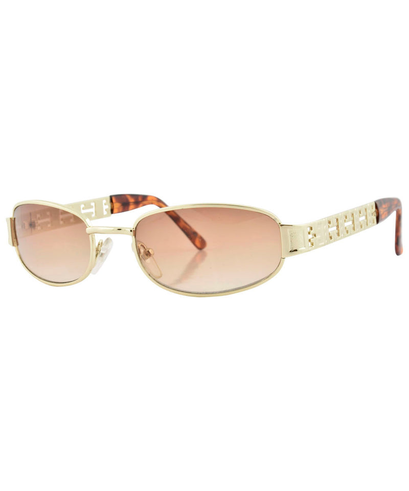 hal gold brown sunglasses
