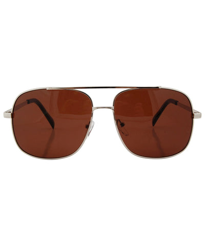 harling silver brown sunglasses