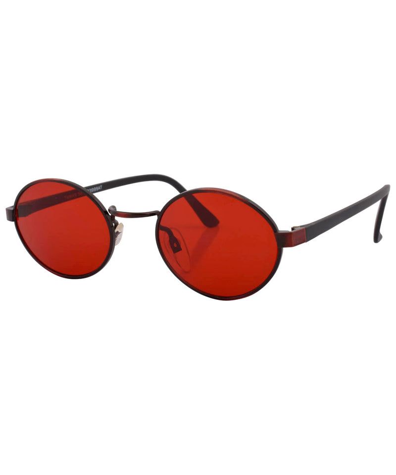 haysi red black sunglasses