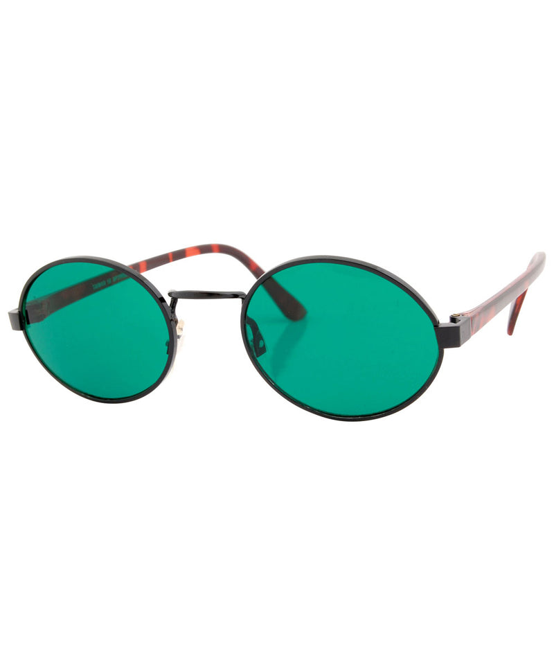 haysi green black sunglasses