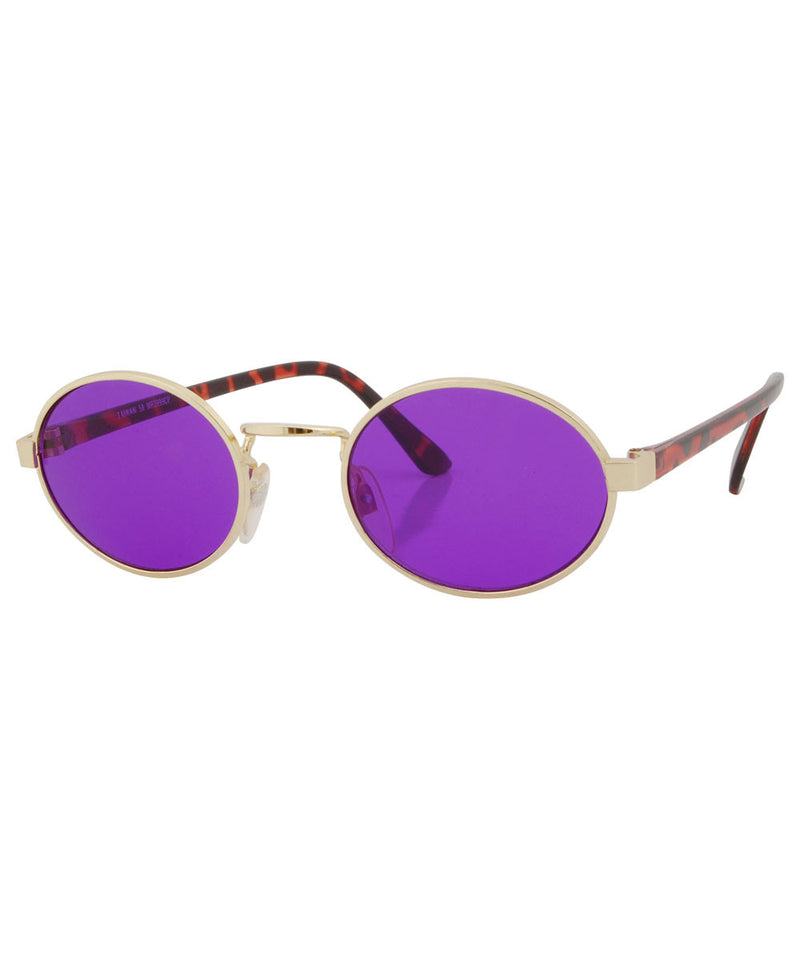 haysi purple gold sunglasses