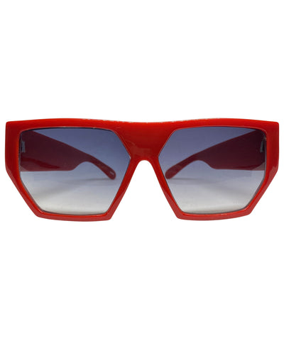 HEXY Red 80s Sunglasses