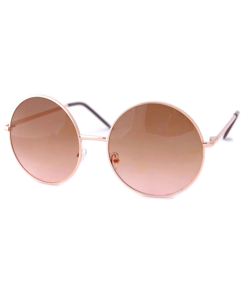 hotcakes gold amber sunglasses