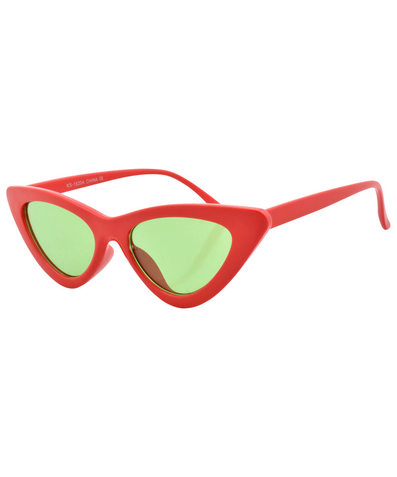 hotsie red green sunglasses
