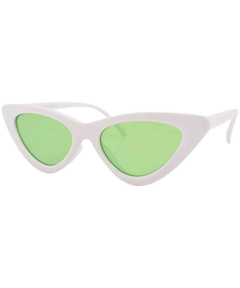 hotsie white green sunglasses