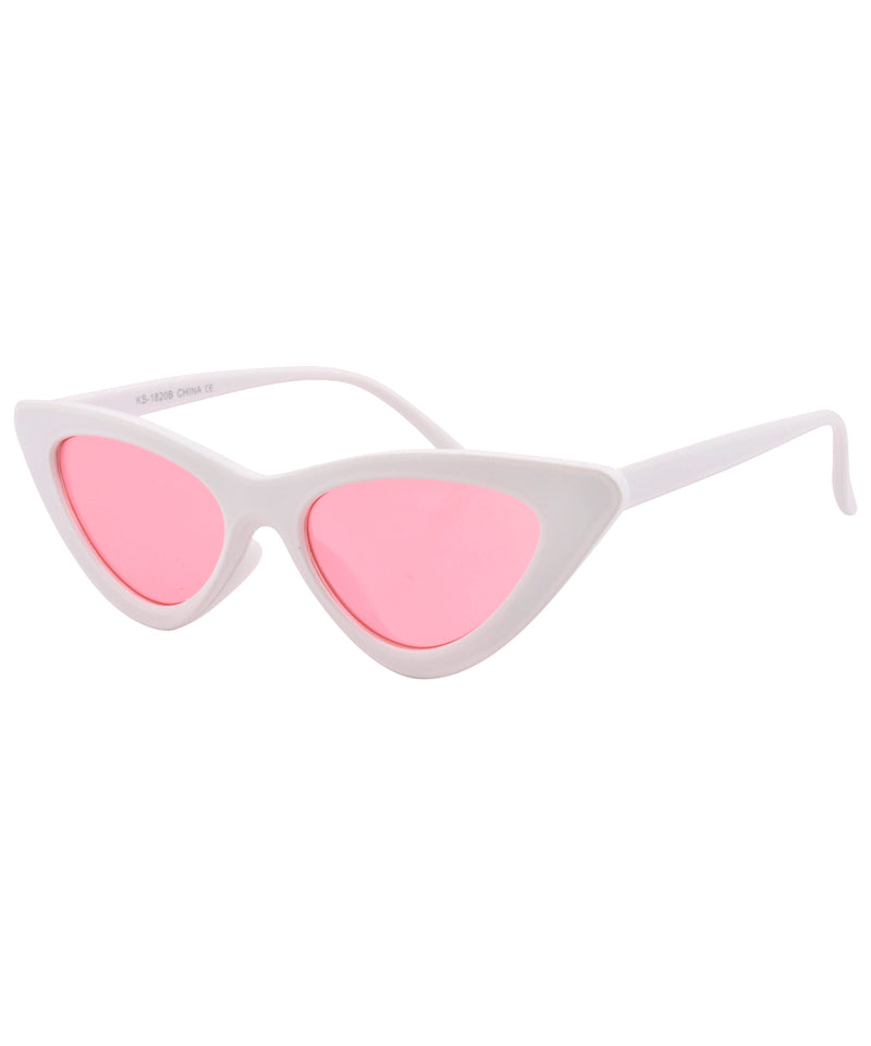 hotsie white pink sunglasses