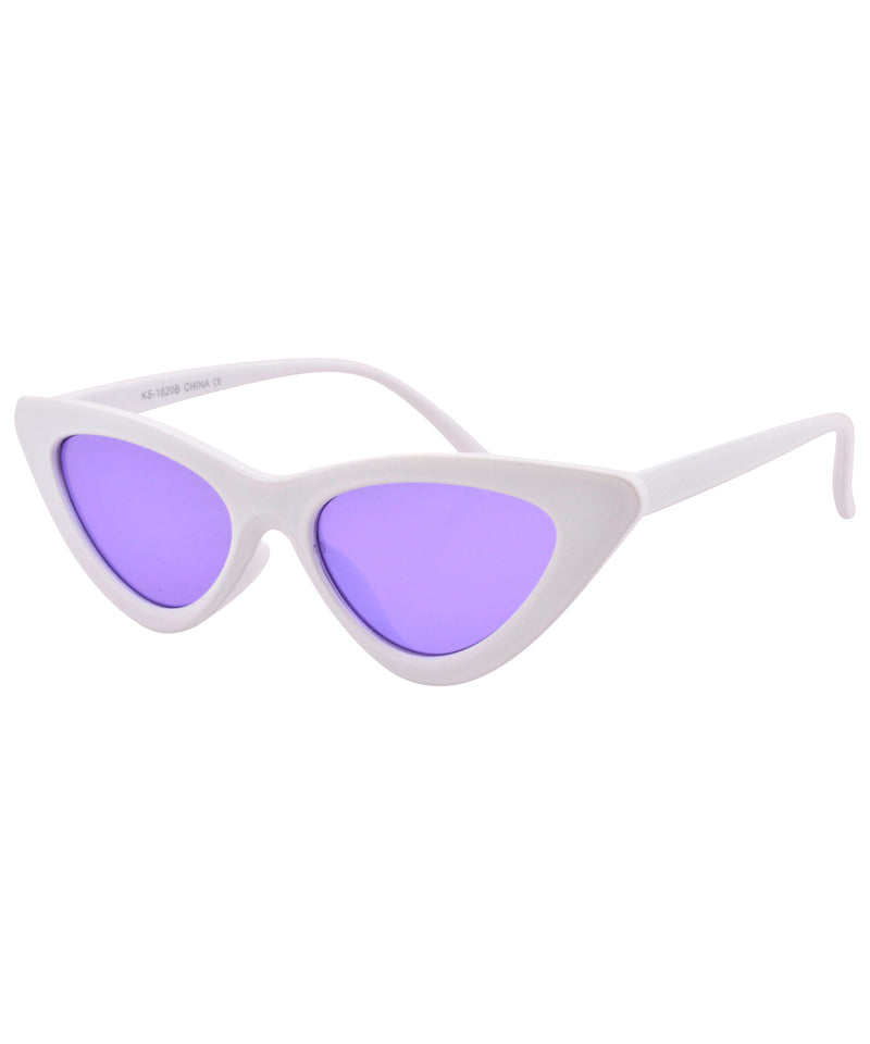 hotsie white purple sunglasses
