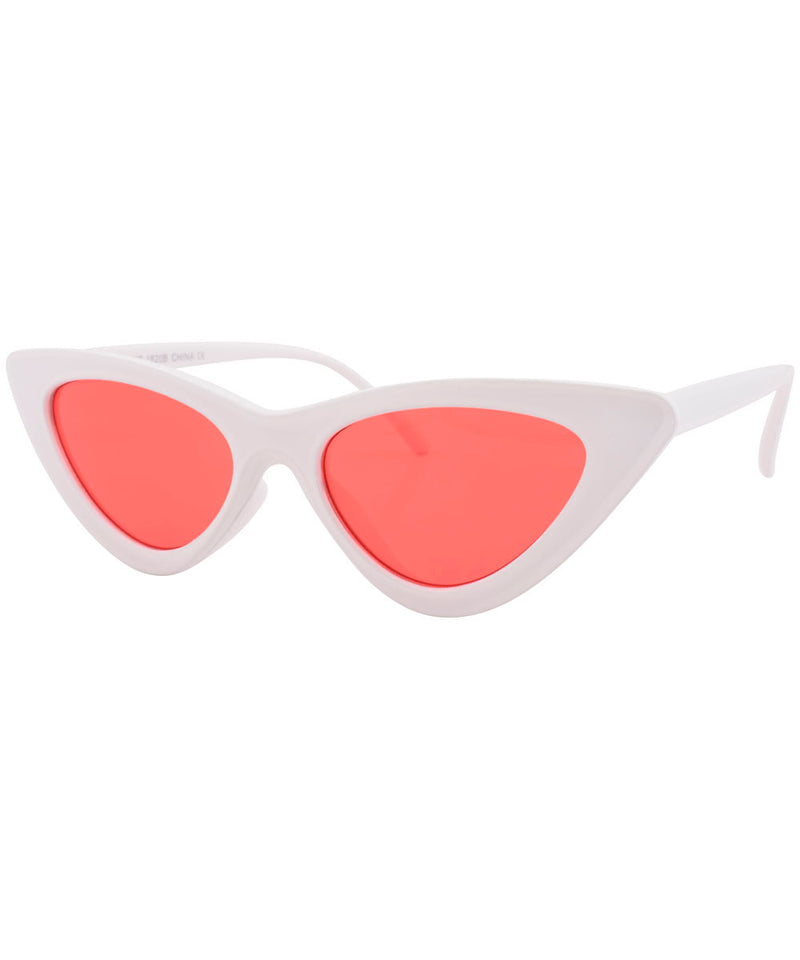 hotsie white red sunglasses