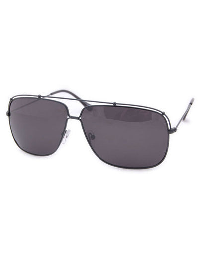 hudson black sunglasses
