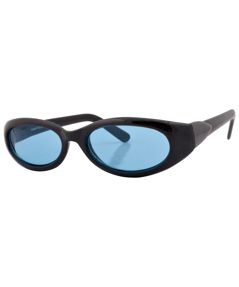 huggle black aqua sunglasses