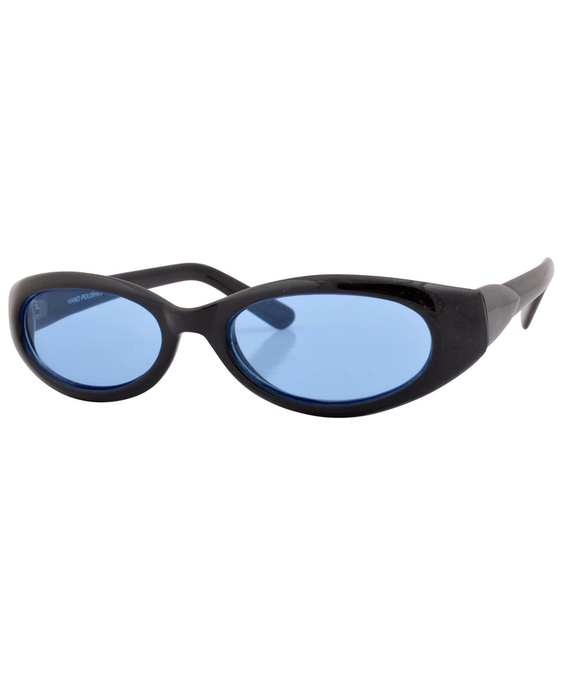 huggle black blue sunglasses