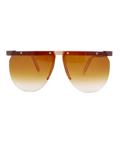 hung brown sunglasses
