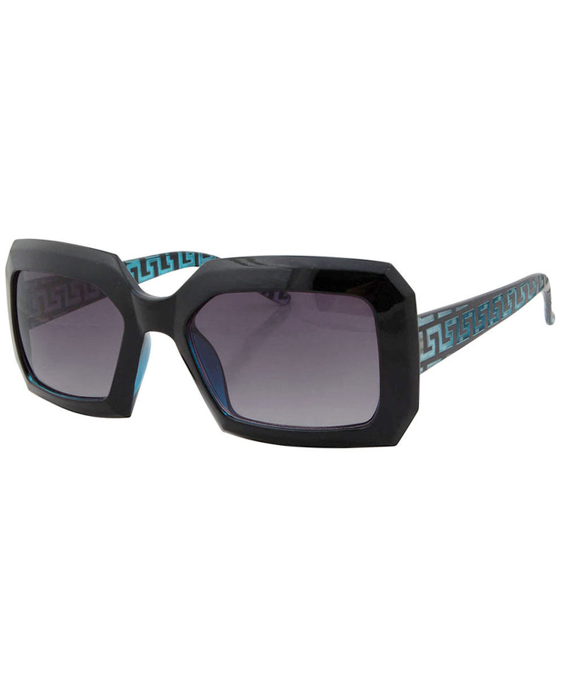 hustle black blue sunglasses