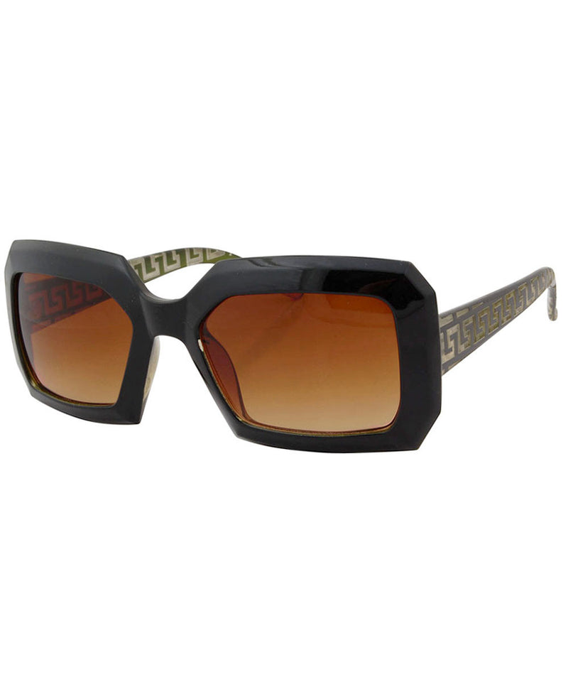 hustle black green sunglasses