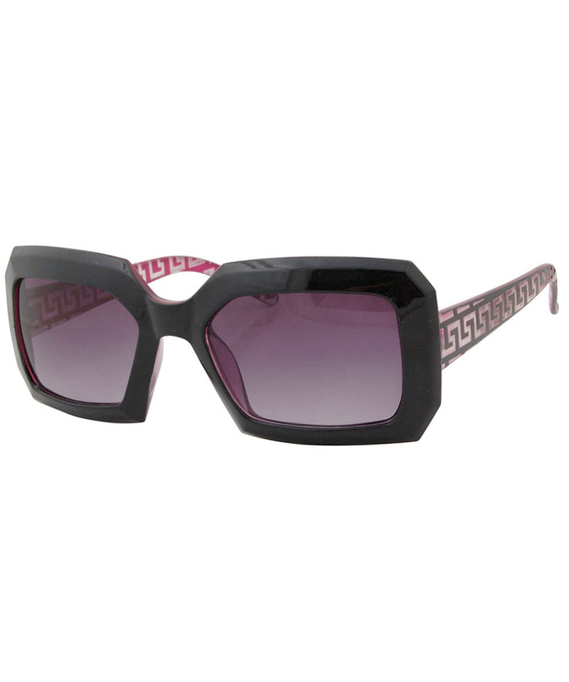 hustle black magenta sunglasses