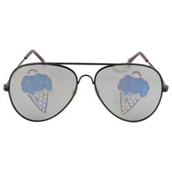 ice scream black sunglasses