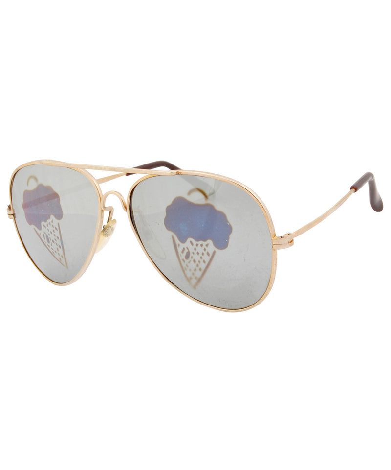 ice scream gold sunglasses