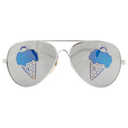 ice scream silver sunglasses