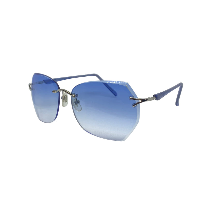 BELLYBOP Blue 90s Rimless Sunnies