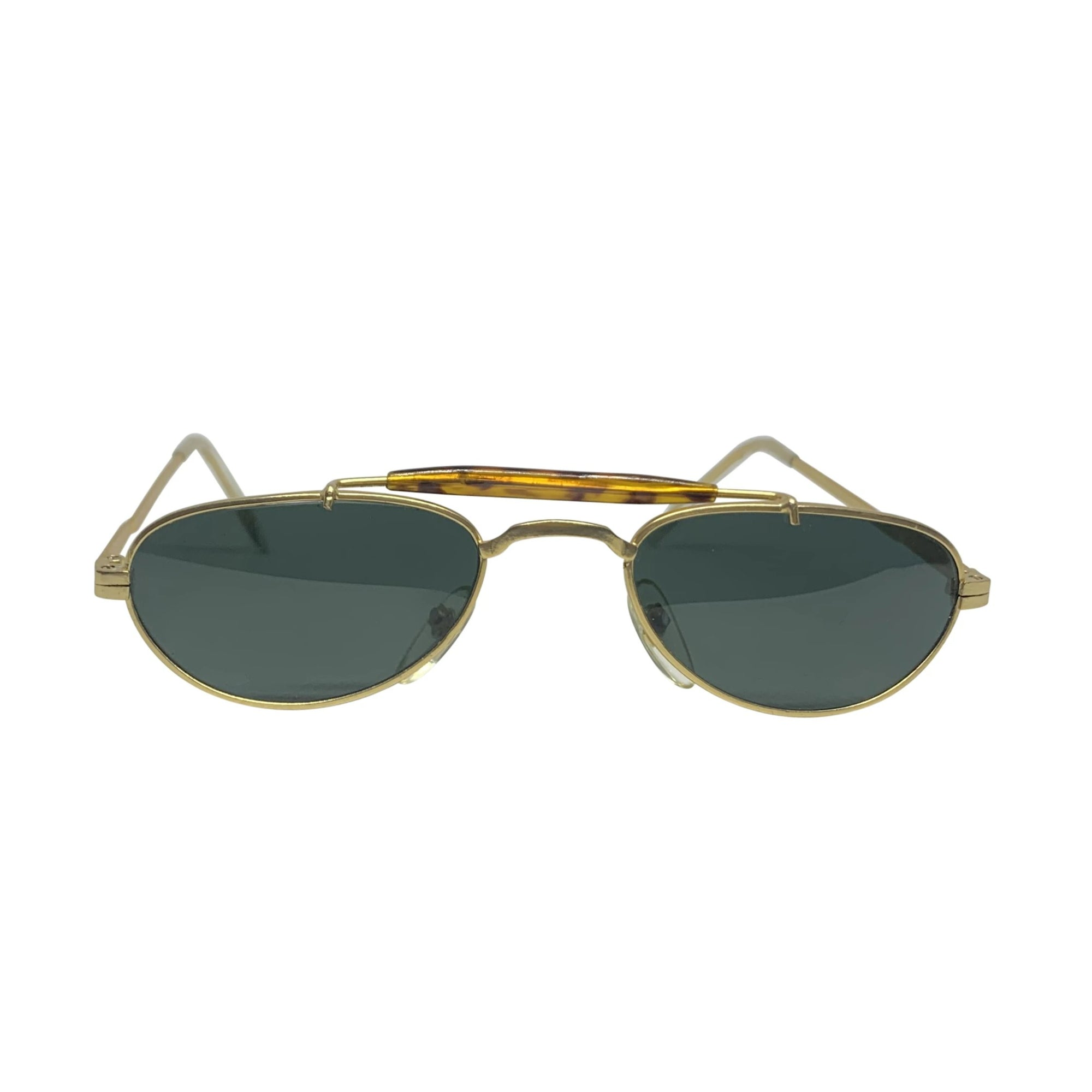 BARACK-O Gold Tortoise Small Aviator Sunnies