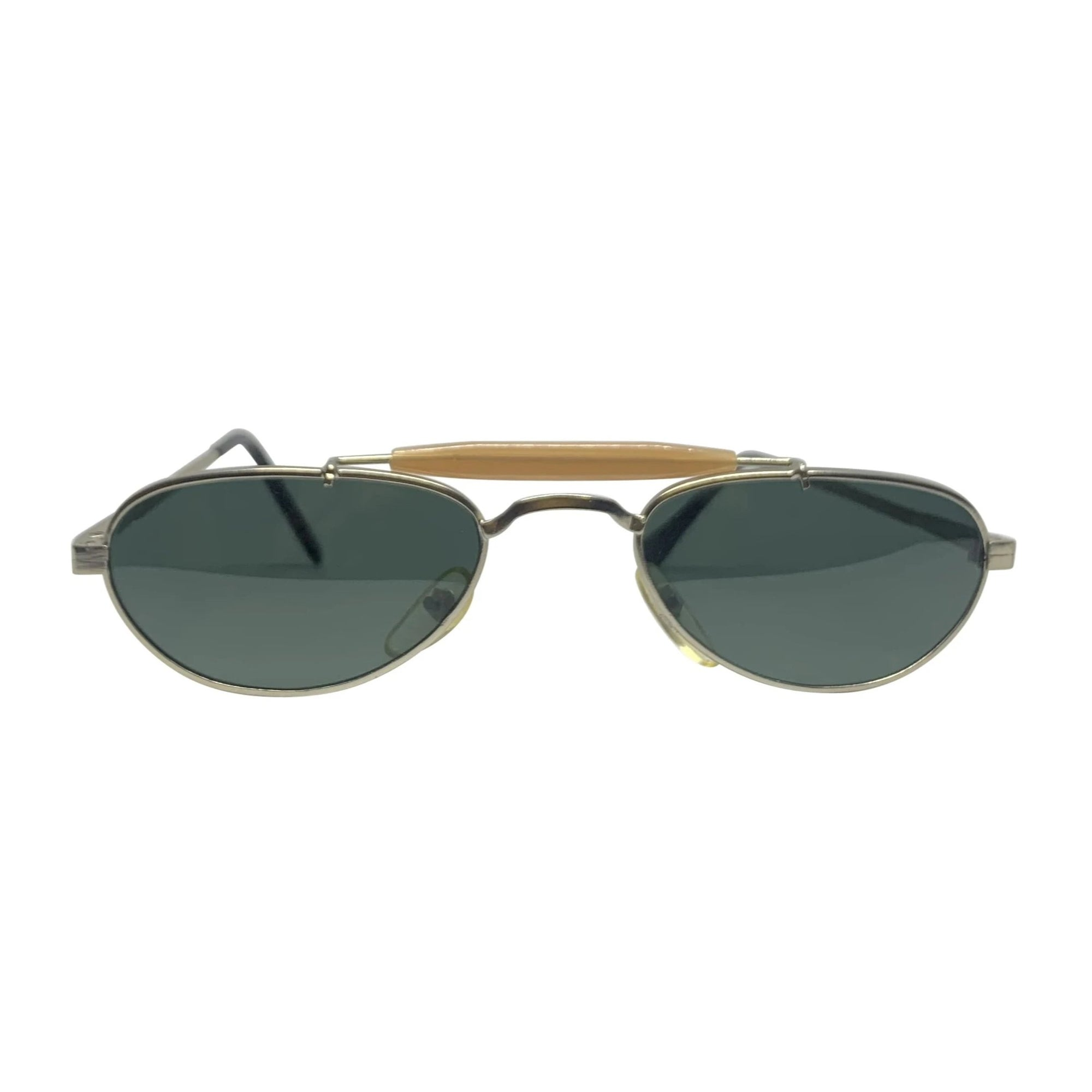 BARACK-O Silver Tan Small Aviator Sunnies
