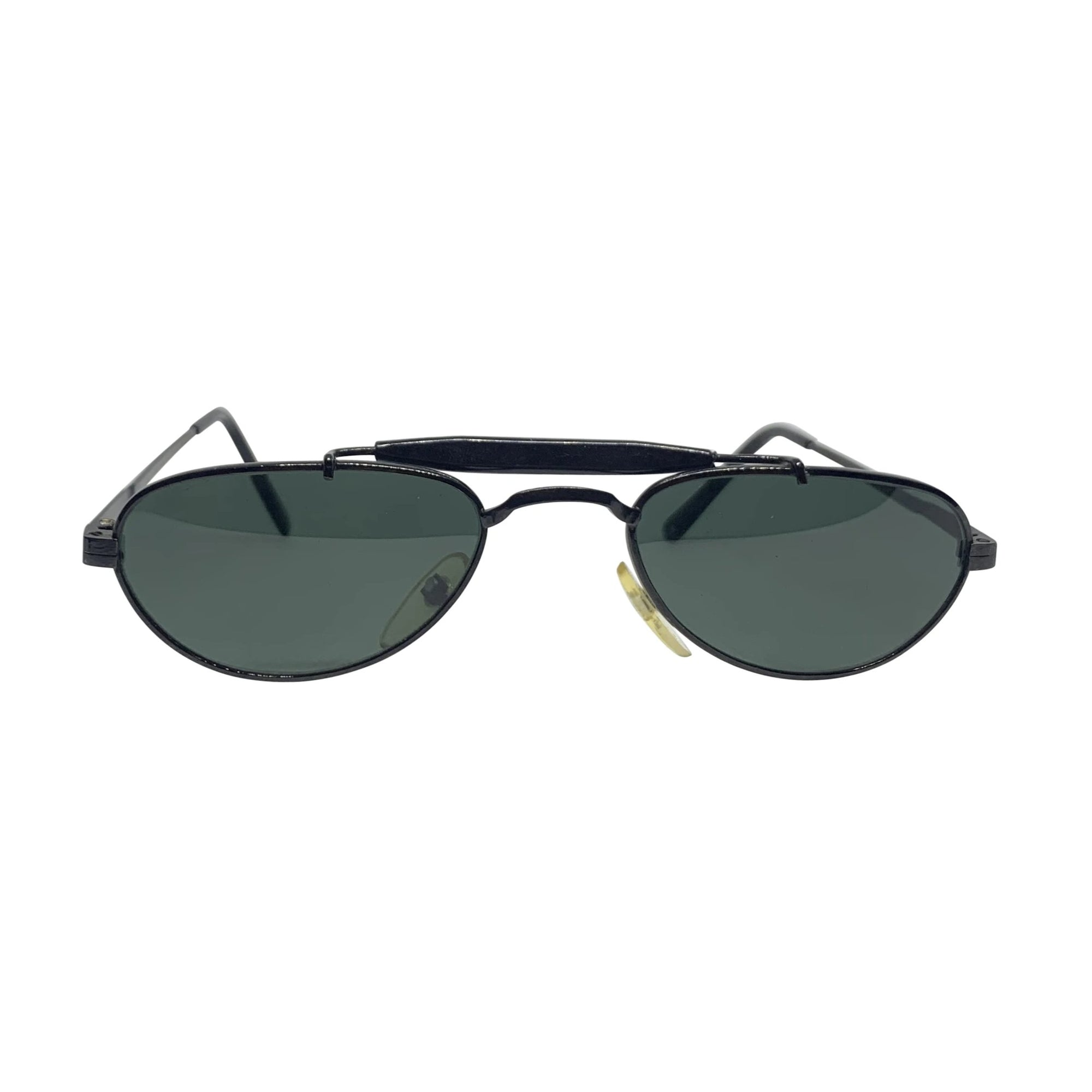 BARACK-O Black on Black Small Aviator Sunnies