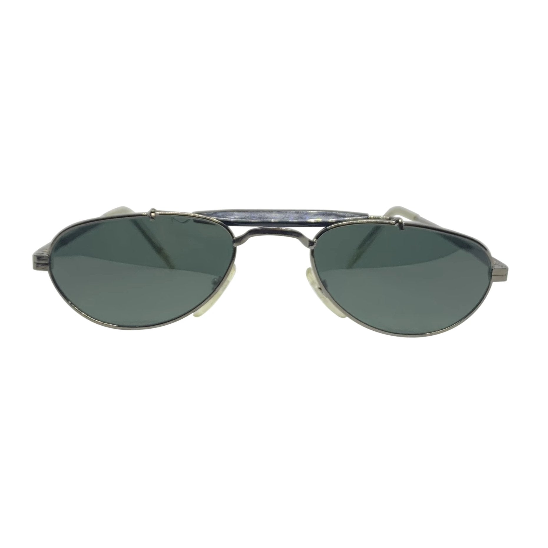 BARACK-O Gunmetal and Black Small Aviator Sunnies
