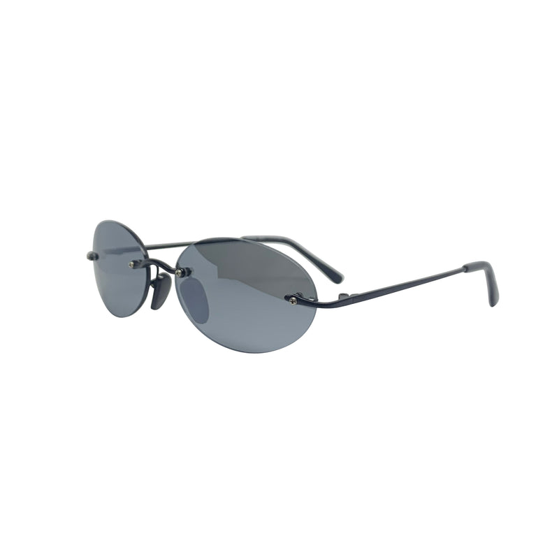 BARPH Black on Black Rimless Sunglasses