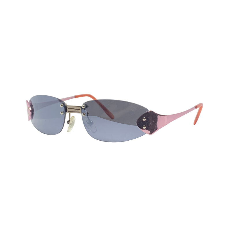 BERTHA Pink Rimless Sunnies