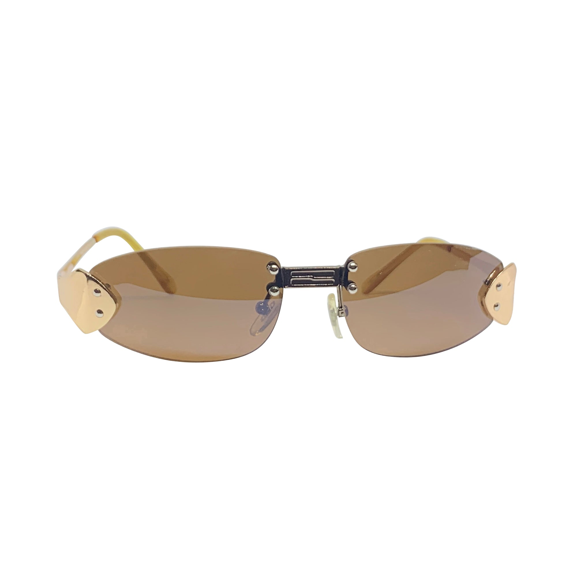 BERTHA Gold Rimless Sunnies