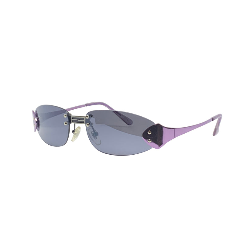 BERTHA Purple Rimless Sunnies
