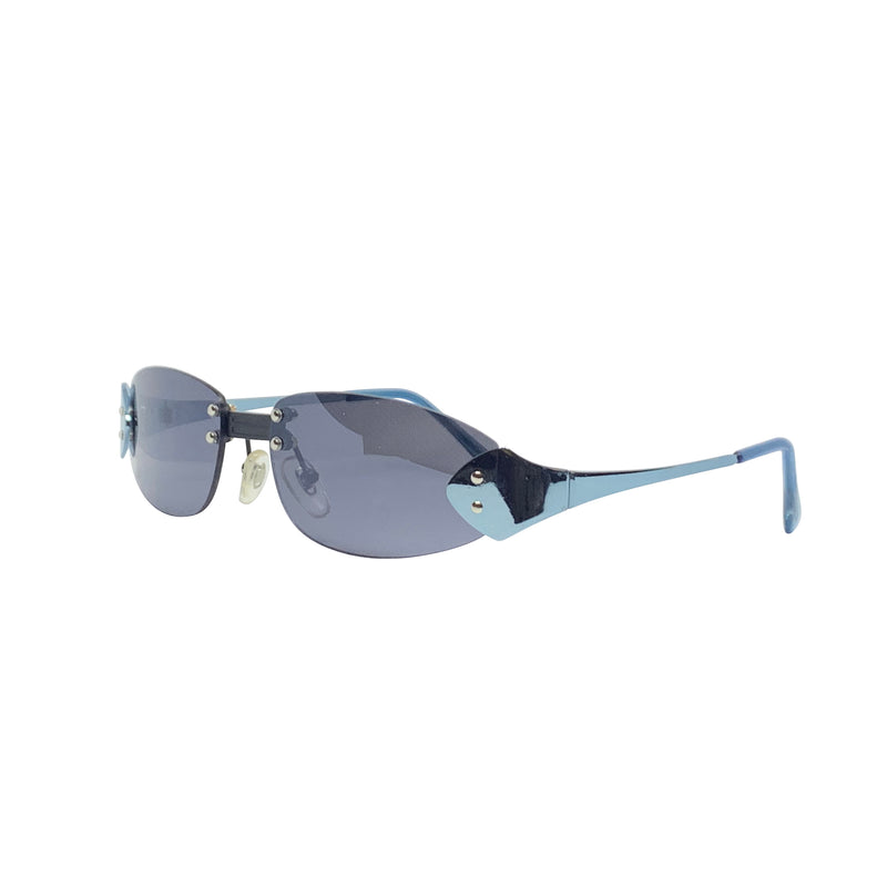 BERTHA Blue Rimless Sunnies