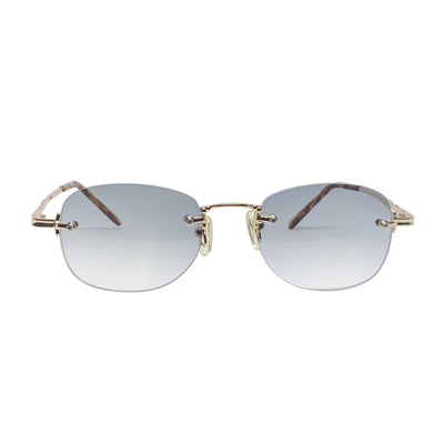 ESSENCE Gold and Smoke Rimless Sunnies