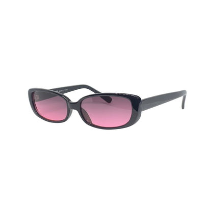 BUGGIN' Black and Pink 90s Square Sunnies