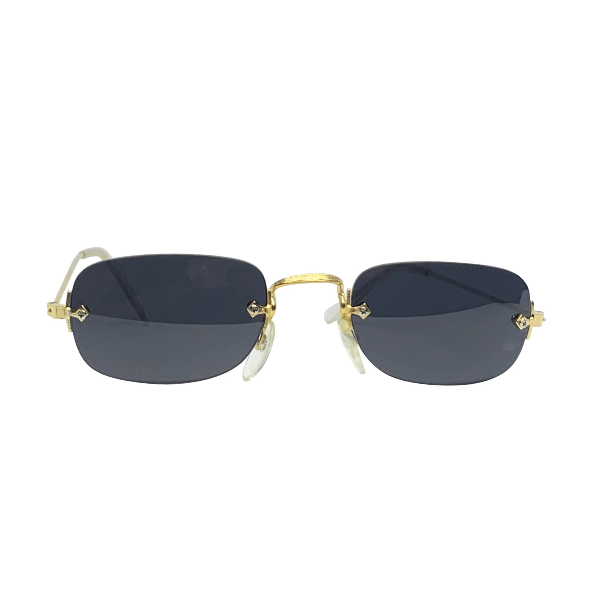 SOUP Black and Gold Rimless Sunglasses