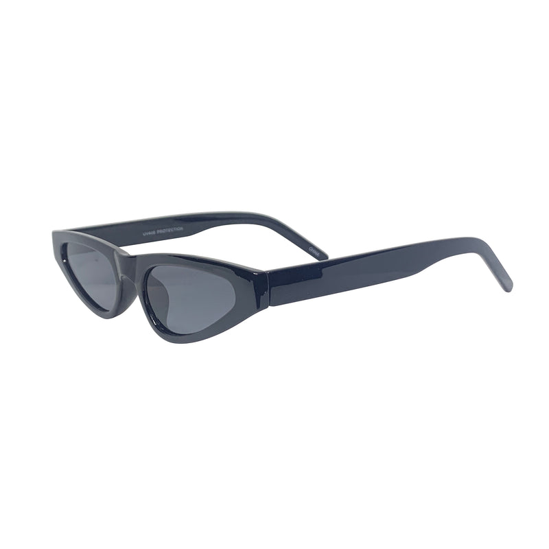 STALLION Black Sharp Cat Eye Sunnies