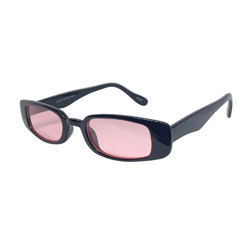 SKWAT Black and Baby Pink 90s Style Sunnies