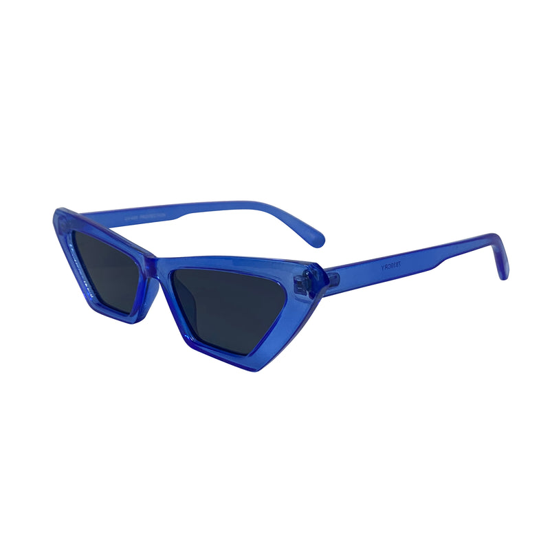ANNABELLE Neon Blue Crystal Cat-Eye Sunnies