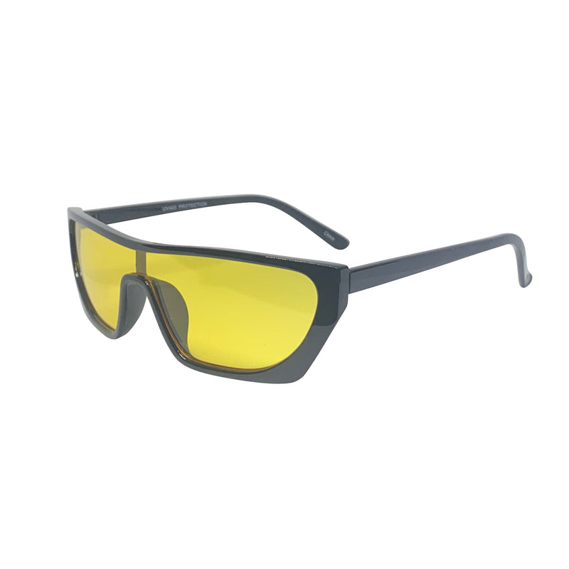 PAPI Yellow and Black Shield Sunnies