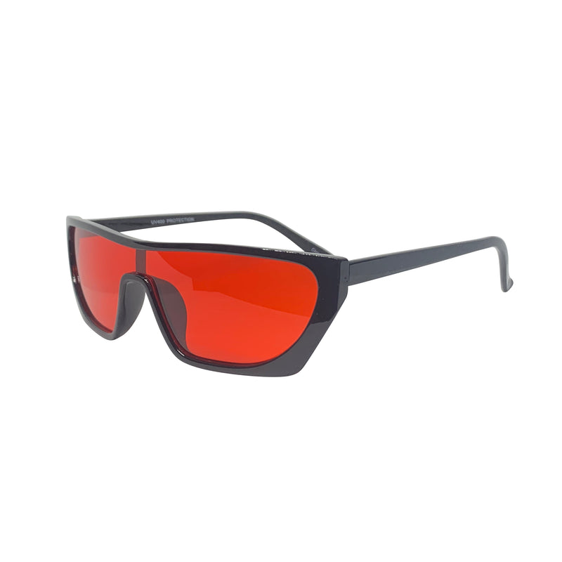 PAPI Red and Black Shield Sunnies