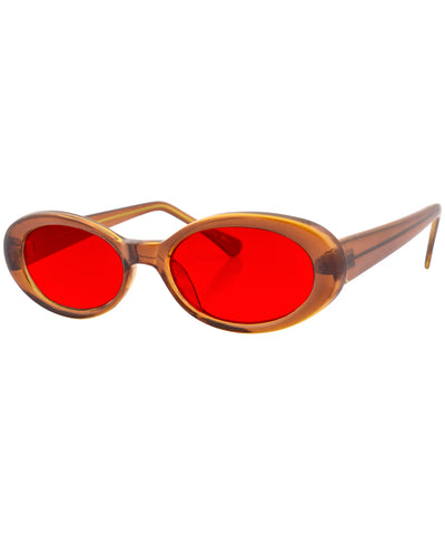 insight brown red sunglasses