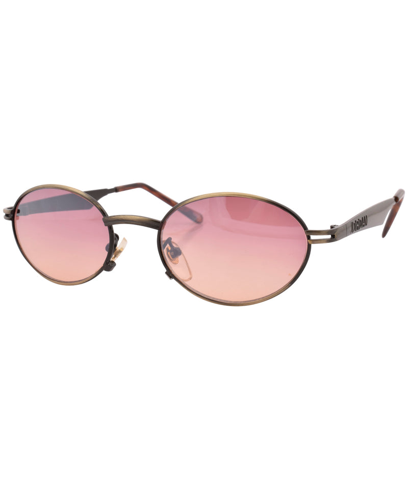 islands brass pink sunglasses