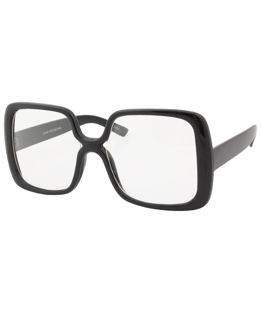 jojo black clear sunglasses