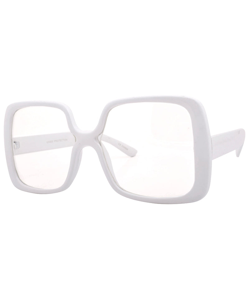 jojo white clear sunglasses