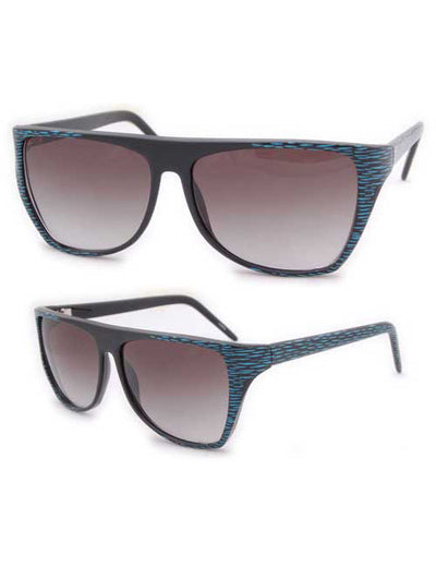 jr mama black blue sunglasses
