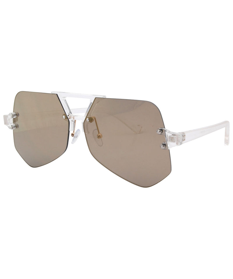 juice crystal brass sunglasses