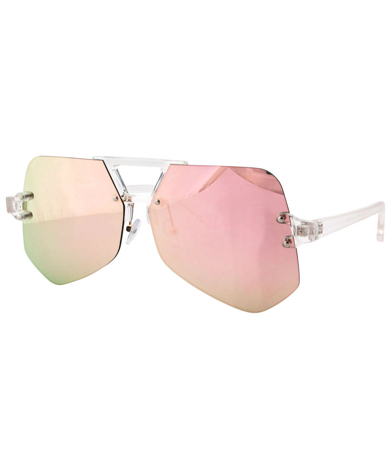 juice crystal pink sunglasses
